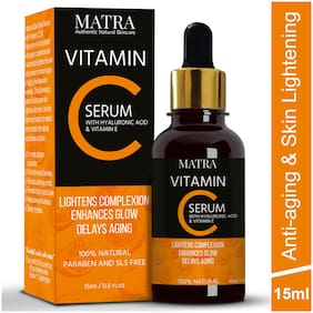Matra Vitamin C Ultra Glow Serum with Hylauronic Acid & Vit E for Skin Lightening and Anti-aging-15ml