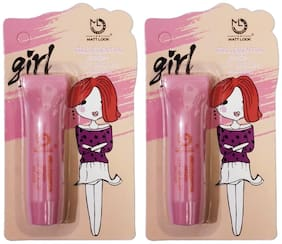 Matt Look Girls Essential Color Lip Balm Pink Lolita-3.5g & Pink Lolita-3.5g (Pack of 2)
