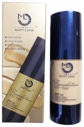 Matt Look H12-102 Oil Free Spf 25 Waterproof Foundation For Fair Skin Color 30ml