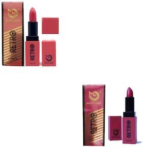 Matt Look Irani Retro Matte Lipstick Pink, Rose 3.8g (Pack of 2)