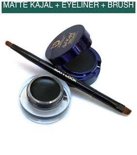 Matt Look Kajal Gel & Cake Eyeliner - Black