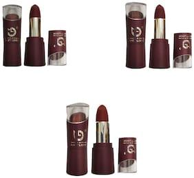 Matt Look Reddish Mehroon Lipstick (Shade-44,45,46) 3.8g (Pack of 3)