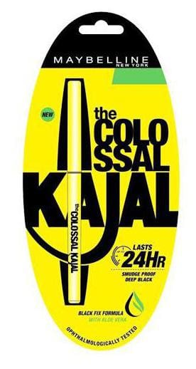 New York the Colossal Kajal - 24 hrs Smudge Proof, Deep Black
