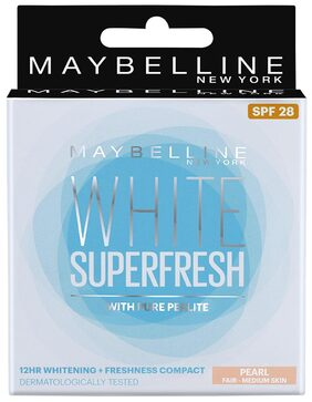 Maybelline New York White Super Fresh Compact Pearl 8 gm