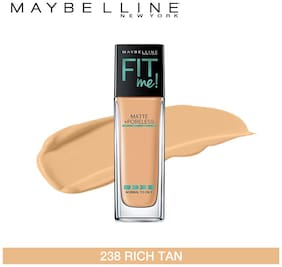 Maybelline New York Fitme Matte+ Poreless Foundation 238 Rich Tan