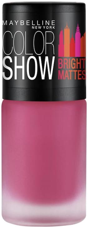 Maybelline New York Color Show Bright Matte Nailpaints Fiery Fuschia-(Merry Fuchsia) 6 ml