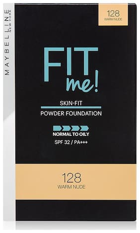 Maybelline New York Fit Me Two Way Cake (Powder Foundation);128 Warm Nude 9gm