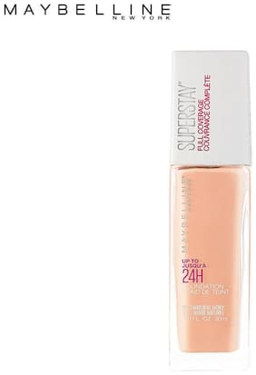 Maybelline New York Super Stay 24H Full coverage Liquid Foundation,Classic Ivory 120(Pack of 1)