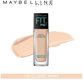 Maybelline New York Fitme Matte+ Poreless Foundation 120 Classic Ivory