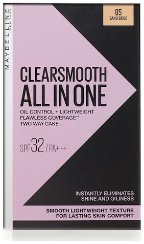 Maybelline New York Clear Smooth All in One Face Powder;Sand Beige