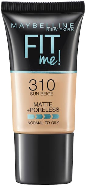 Maybelline New York Fit Me Matte+Poreless Liquid Foundation Tube;310 Sun Beige 18g