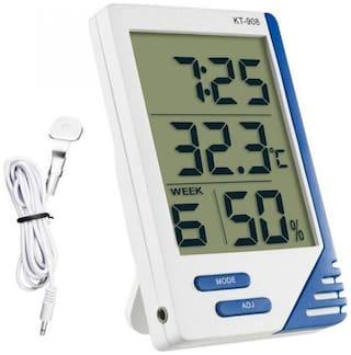 MCP Digital Temperature Humidity Meter, KT-908 LCD for Indoor Outdoor Home Office