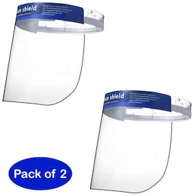 MCP Face Shield Mask Eyes Nose Full Frontal Protection (Pack of 2)