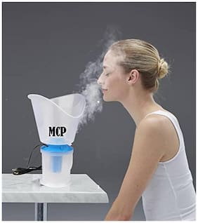 MCP White Facial Sauna, Vaporizer and Nose Steamer 3 in 1 Steam Inhaler