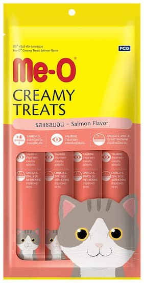 Me-O Creamy Cat Treats - Salmon Flavor 60 g Pack Of 12