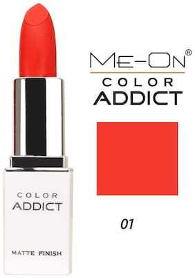 Me-On Color Addict Matte Lipstick Shade 1 (Cherry Red) 3 g