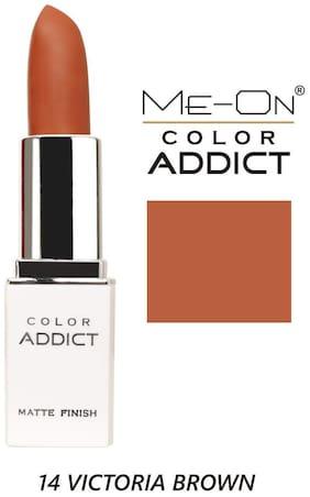 Me-On Color Addict Matte Lipstick Shade#14 Victoria Brown 4g