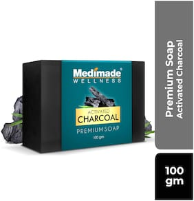 Medimade Activated Charcoal Premium Soap Soft, Smooth, Moisturised Skin  (100 g)