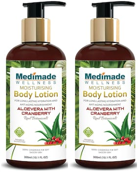 Medimade Aloevera with Cranberry Moisturizing Body Lotion  - Pack of 2