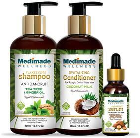 Medimade Anti Dandruff Shampoo 300ml + Coconut Conditioner 300ml + Hair Growth Serum 30ml