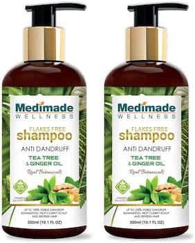 Medimade Anti Dandruff Shampoo with Tee Tree & Ginger Oil