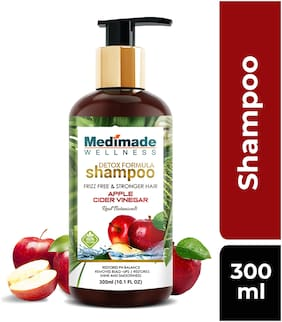 Medimade Detox Formula Apple Cider Vinegar Shampoo Paraben and Sulphate free (300ml)