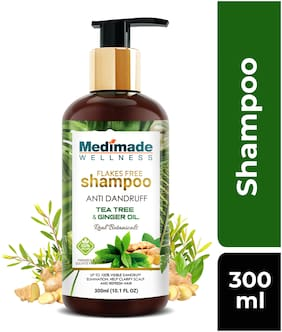 MEDIMADE Flakes free Anti-Dandruff Shampoo Paraben and Sulphate free 300 ml (Pack Of 1)