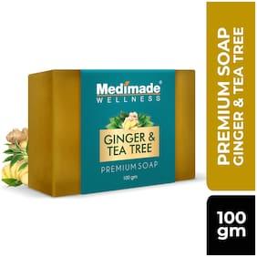 Medimade  Ginger & Tea Tree Premium SoapSoft, Smooth, Moisturised Skin,Natural Handmade Soap (100 g)