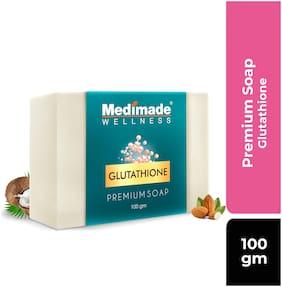 Medimade Glutathione Premium SoapSoft, Smooth, Moisturised Skin,Natural Handmade Soap (100 g)