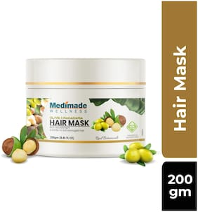 Medimade Olive and Macadamia Hair Mask Pack of 1 200g