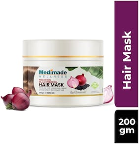MEDIMADE Red Onion and Black seed oil Hair Mask Paraben and Sulphate free 200g (Pack Of 1)