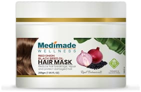 Medimade Red Onion & Black Seed Oil Hair Mask to Repair and Protect Damaged Hair 200g