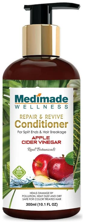 MEDIMADE Repair and Revive Apple Cider Vinegar Conditioner Paraben and Sulphate free 300 ml (Pack Of 1)