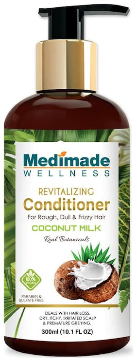 MEDIMADE Revitalizing Coconut Milk Conditioner Paraben and Sulphate free 300 ml (Pack Of 1)