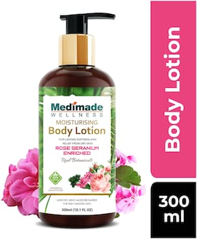 Medimade Rose Geranium Enriched Moisturizing Body Lotion 300ml