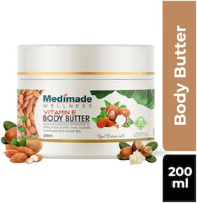 Medimade Vitamin E Body Butter Pack of 1 200ml