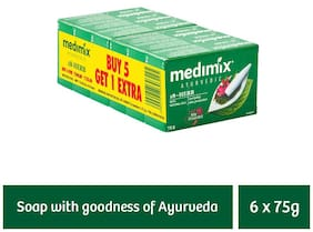 Medimix Classic Ayurvedic 18 Herbs Soap 75 gm (5+1 offer Pack)