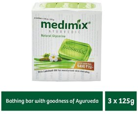 Medimix Glycerine Moisturising Soap 3 x 125 gm (Offer Pack)