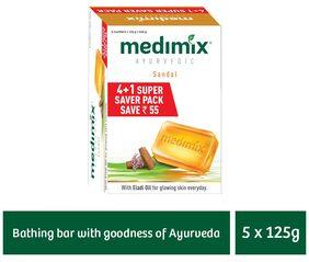 Medimix Sandal Soap 125 gm (4+1 offer Pack)