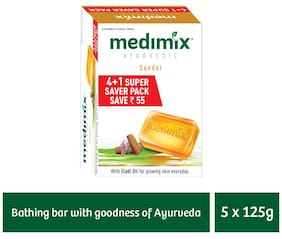 Medimix Sandal Soap 125 gm (4+1 offer Pack)