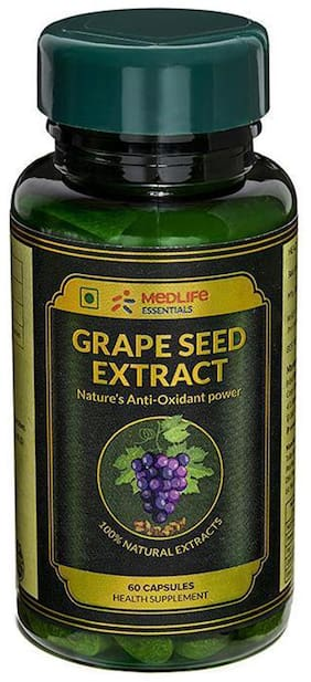 Medlife Essentials Grape Seed Extract 60 Capsules(Pack of 6)