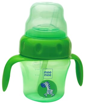 Mee Mee 2 in 1 Spout and Straw Sipper Cup (Green) -150 ml