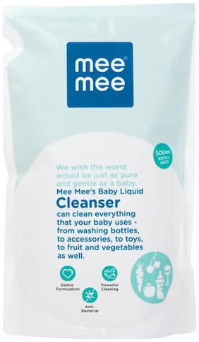 Mee Mee Anti-Bacterial Baby Liquid Cleanser For Fruits Bottles Accessories & Toys (500 ml )