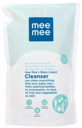 Mee Mee Anti-Bacterial Baby Liquid Cleanser For Fruits Bottles Accessories & Toys - 1.2 ltr