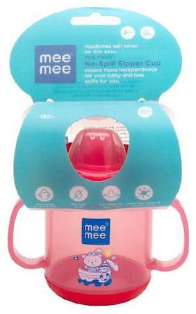 Mee Mee Baby No-Spill Sipper Cup - Red 120 g