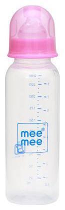 Mee Mee Baby Feeding Bottle - Eazy Flo, Premium, Pink 250 ml