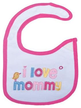 Mee Mee Baby Cotton Bibs - Pink I love Momma 1 pc