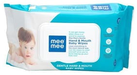 Mee Mee Baby Wipes - Gentle Hand And Mouth  White 72 pcs