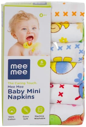 Mee Mee Baby Mini Napkins (Assorted 6 Pieces)