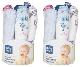 Mee Mee Baby Mini Napkins (Assorted) Set of 12